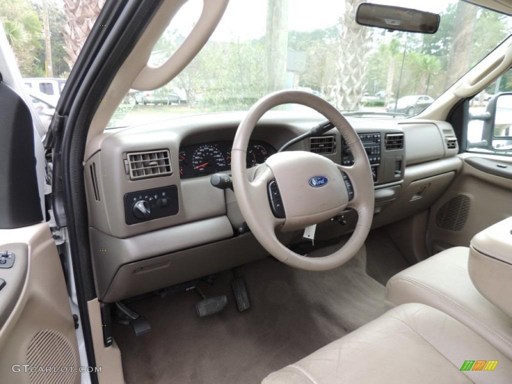 Medium Parchment Beige Interior 2003 Ford F250 Super Duty Lariat Crew Cab Photo #87033222