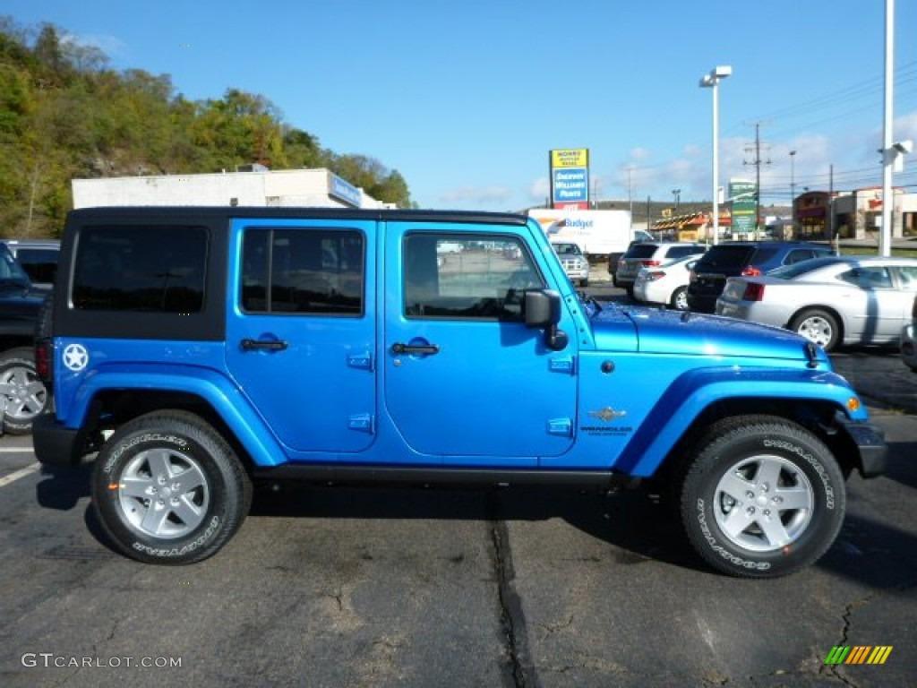 2014 hydro blue pearl jeep wrangler unlimited sport 4x4 #87057621