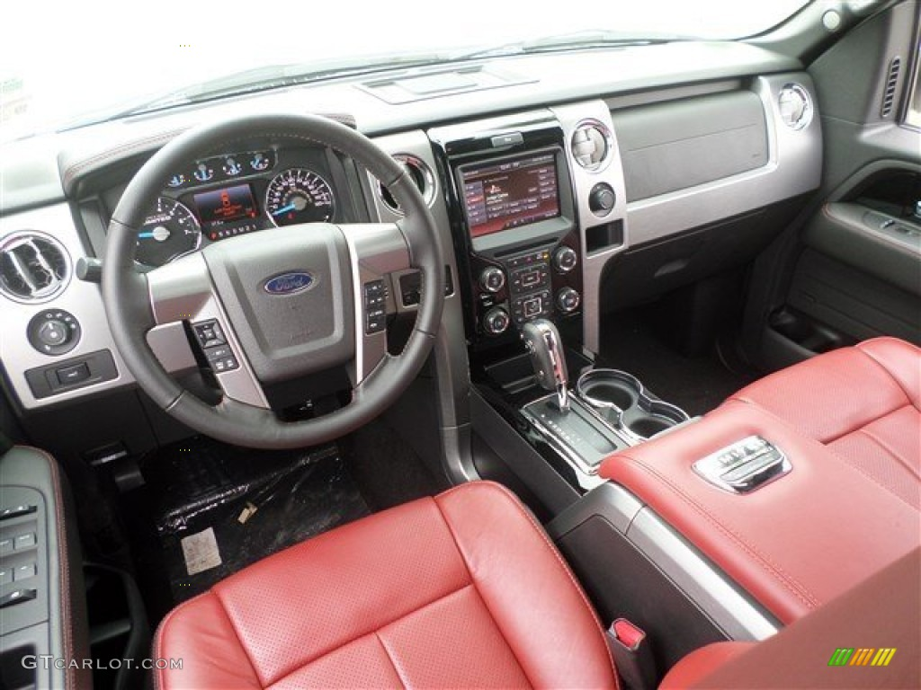 limited unique red leather interior 2013 ford f150 limited. Black Bedroom Furniture Sets. Home Design Ideas