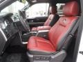 Limited Unique Red Leather 2013 Ford F150 Interiors