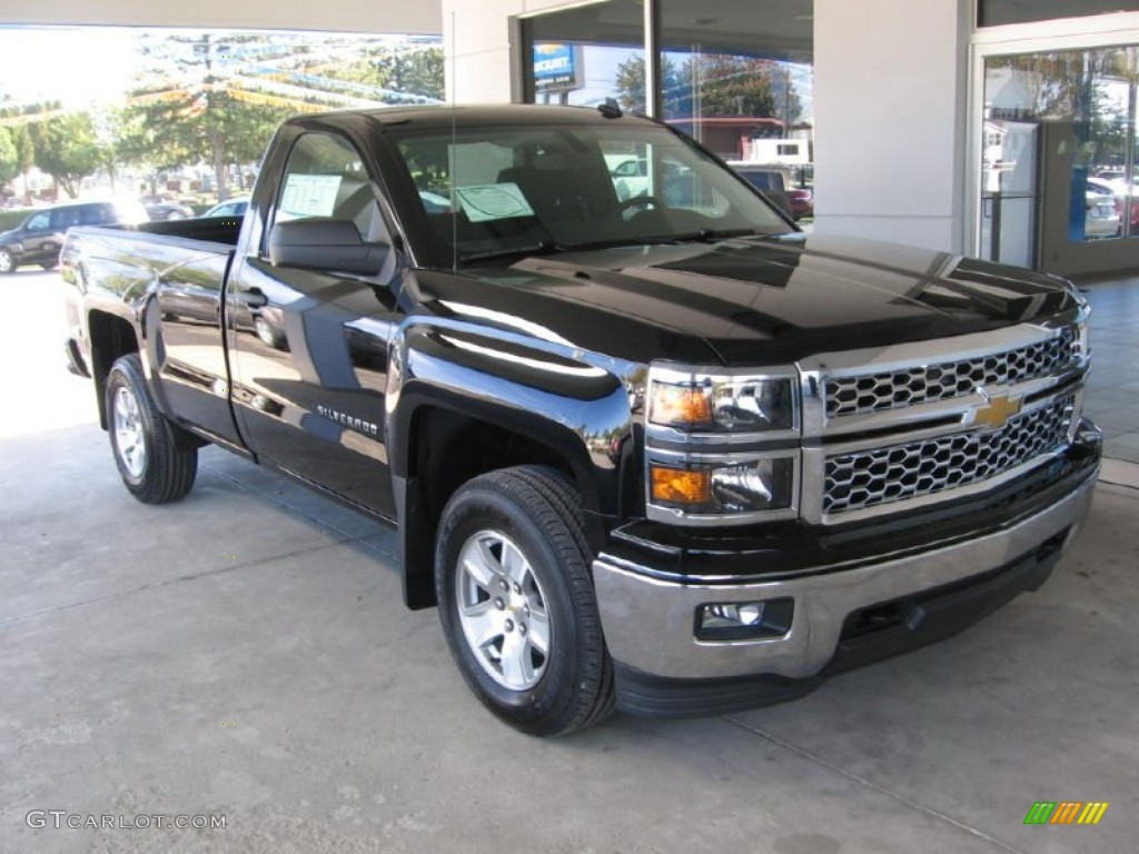2014 black chevrolet silverado 1500 lt regular cab 4x4 87058290 car color. Black Bedroom Furniture Sets. Home Design Ideas