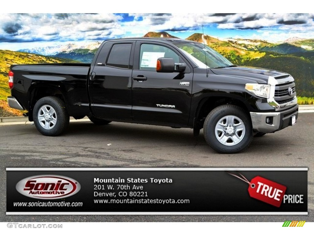2014 Tundra SR5 Double Cab 4x4 - Black / Black photo #1