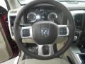 Canyon Brown/Light Frost Beige Steering Wheel Photo for 2014 Ram 1500 #87098775