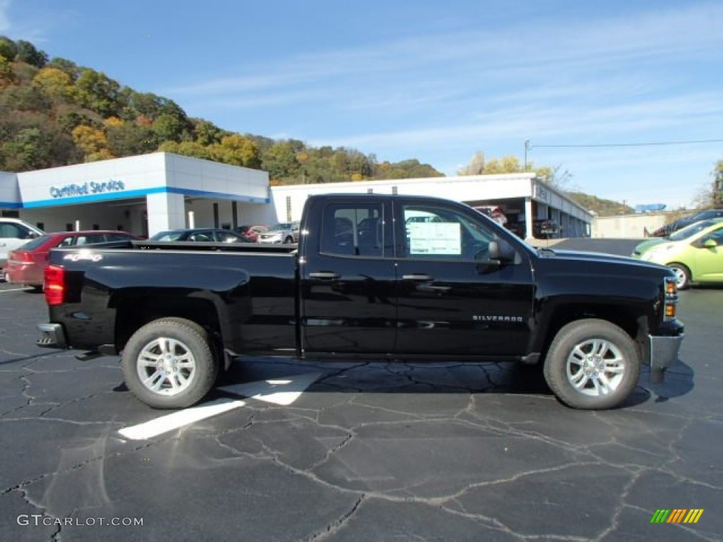 2014 black chevrolet silverado 1500 lt double cab 4x4 87057036 car color galleries. Black Bedroom Furniture Sets. Home Design Ideas