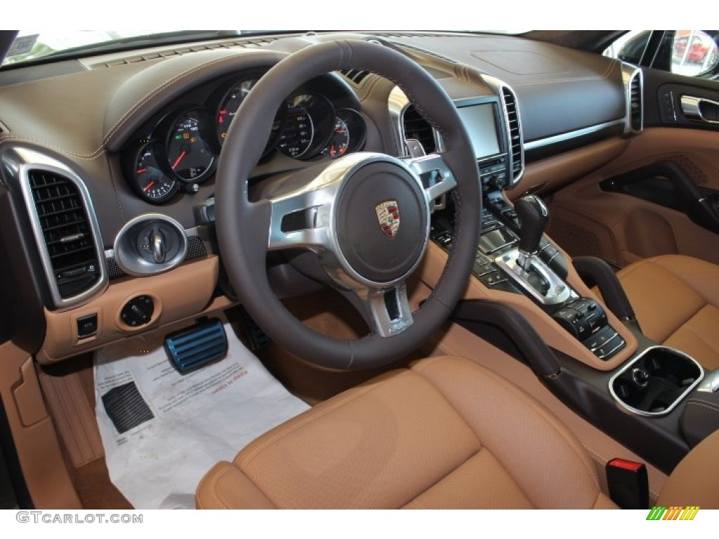 espresso cognac natural leather interior 2014 porsche cayenne turbo s photo 87113667. Black Bedroom Furniture Sets. Home Design Ideas