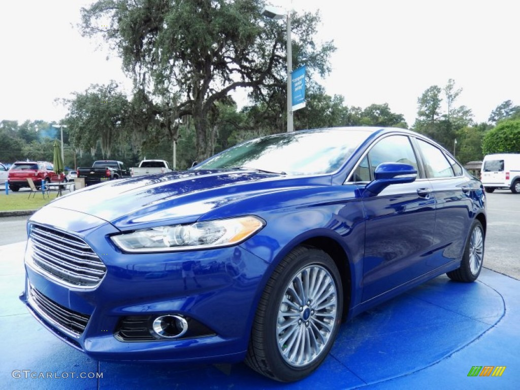 2014 Deep Impact Blue Ford Fusion Titanium 87056995 Gtcarlot Com Car Color Galleries