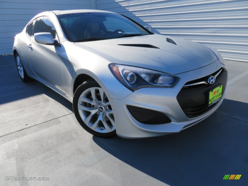 2013 Genesis Coupe 2.0T Premium - Circuit Silver / Gray Leather/Gray Cloth photo #1