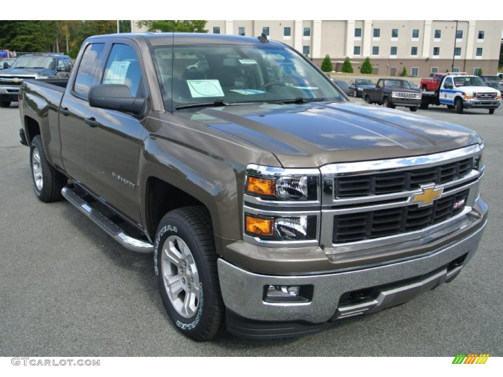 2014 brownstone metallic chevrolet silverado 1500 lt z71 double cab 4x4 87057920. Black Bedroom Furniture Sets. Home Design Ideas