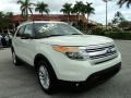 2011 White Suede Ford Explorer XLT  photo #1