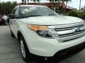 2011 White Suede Ford Explorer XLT  photo #2