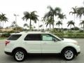 2011 White Suede Ford Explorer XLT  photo #5