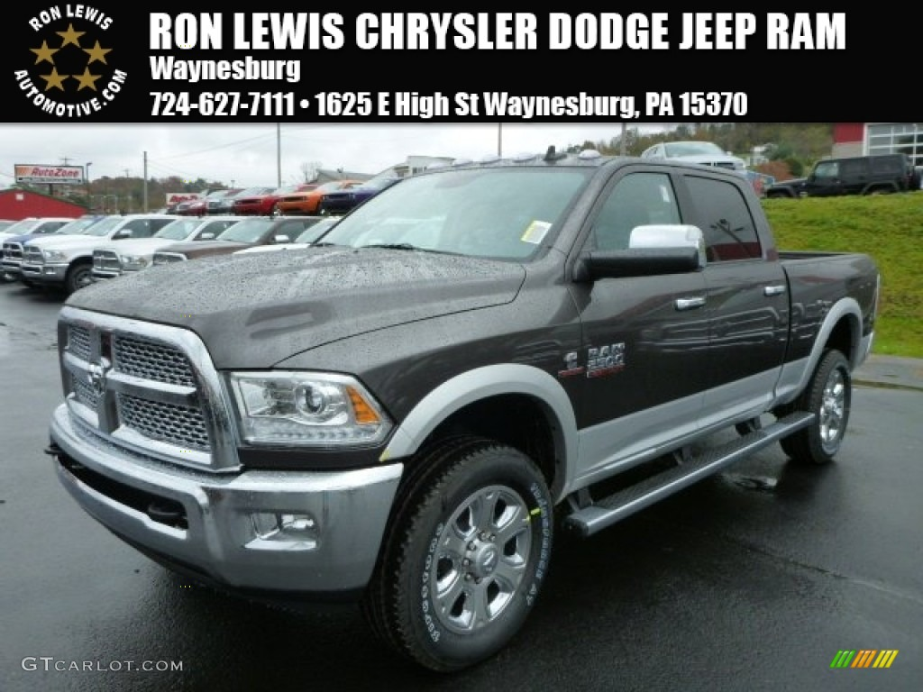 2014 2500 laramie crew cab 4x4 granite crystal metallic black photo 1