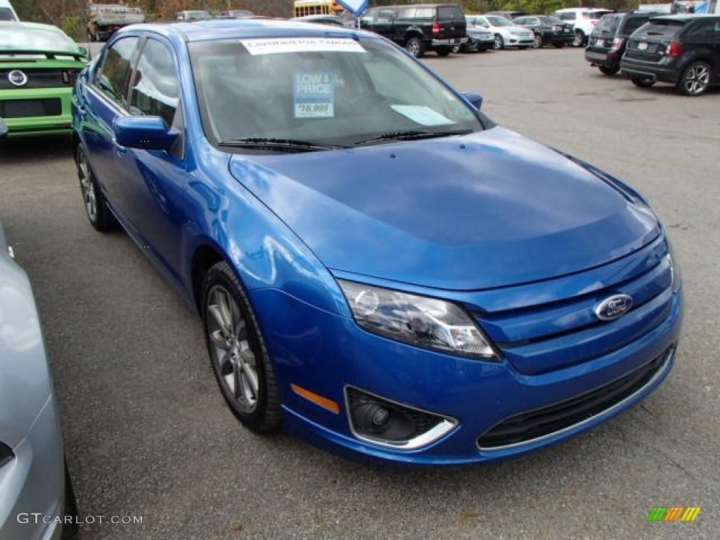 Blue Flame Metallic Ford Fusion