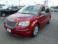 Deep Cherry Red Crystal Pearl 2010 Chrysler Town & Country Limited