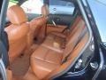 2006 Infiniti FX Brick/Black Interior Rear Seat Photo
