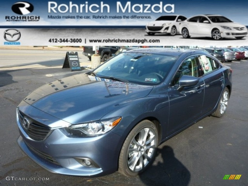 2014 blue reflex mica mazda mazda6 grand touring 87224877 car color galleries. Black Bedroom Furniture Sets. Home Design Ideas