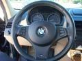 2006 BMW X3 Sand Beige Interior Steering Wheel Photo