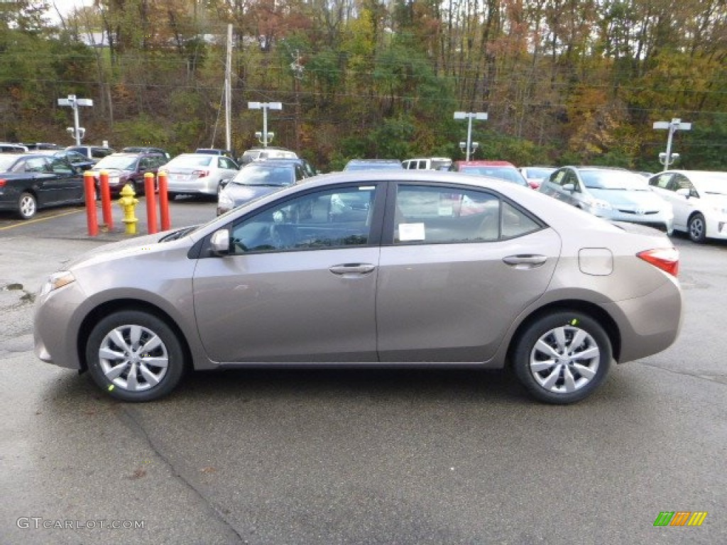 Brown Sugar Metallic 2014 Toyota Corolla Le Exterior Photo