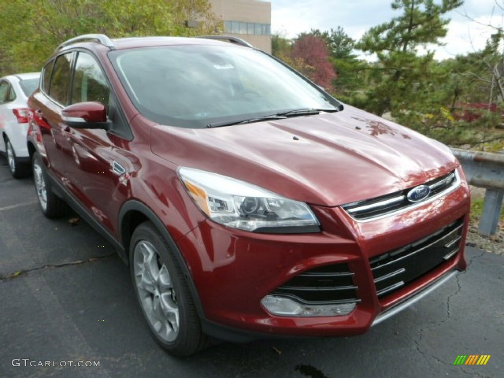 2014 Escape Titanium 2.0L EcoBoost 4WD - Sunset / Charcoal Black photo #1