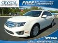 White Platinum Tri-coat Metallic 2010 Ford Fusion Hybrid