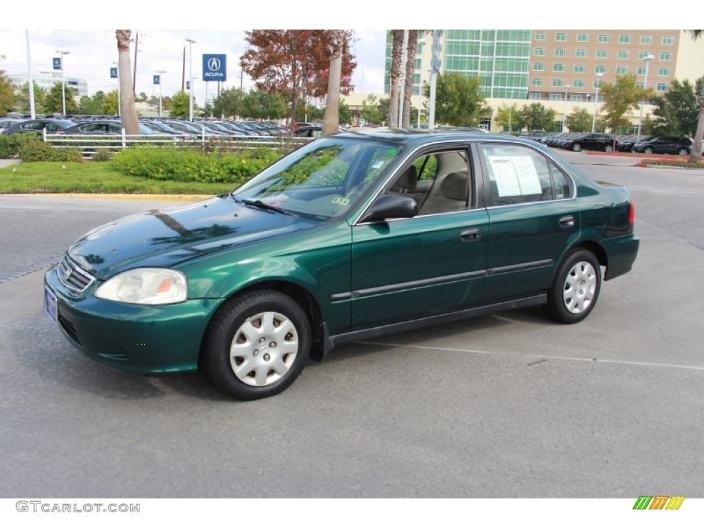clover green pearl 2000 honda civic lx sedan exterior