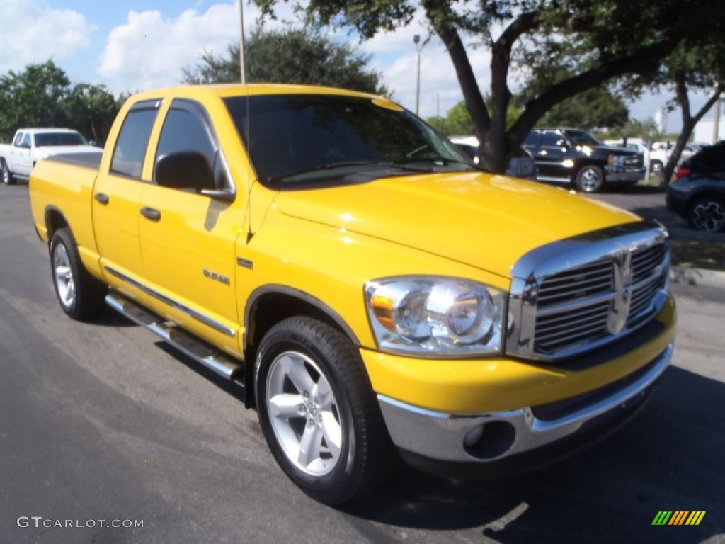 detonator yellow 2008 dodge ram 1500 big horn edition quad cab exterior photo 87312343. Black Bedroom Furniture Sets. Home Design Ideas