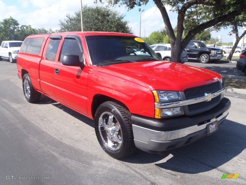 2005 Silverado 1500 Extended Cab - Victory Red / Tan photo #1
