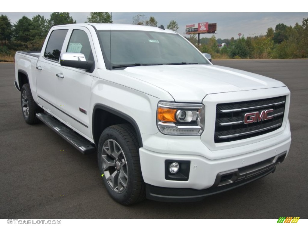 2014 summit white gmc sierra 1500 slt crew cab 4x4 87307935 car color galleries. Black Bedroom Furniture Sets. Home Design Ideas