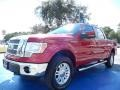 Red Candy Metallic 2012 Ford F150 Lariat SuperCrew 4x4