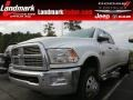 Bright White 2011 Dodge Ram 3500 HD Laramie Longhorn Crew Cab 4x4 Dually