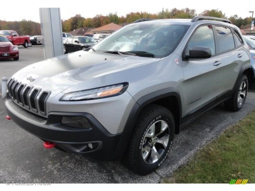 2014 billet silver metallic jeep cherokee trailhawk 4x4 #87342141