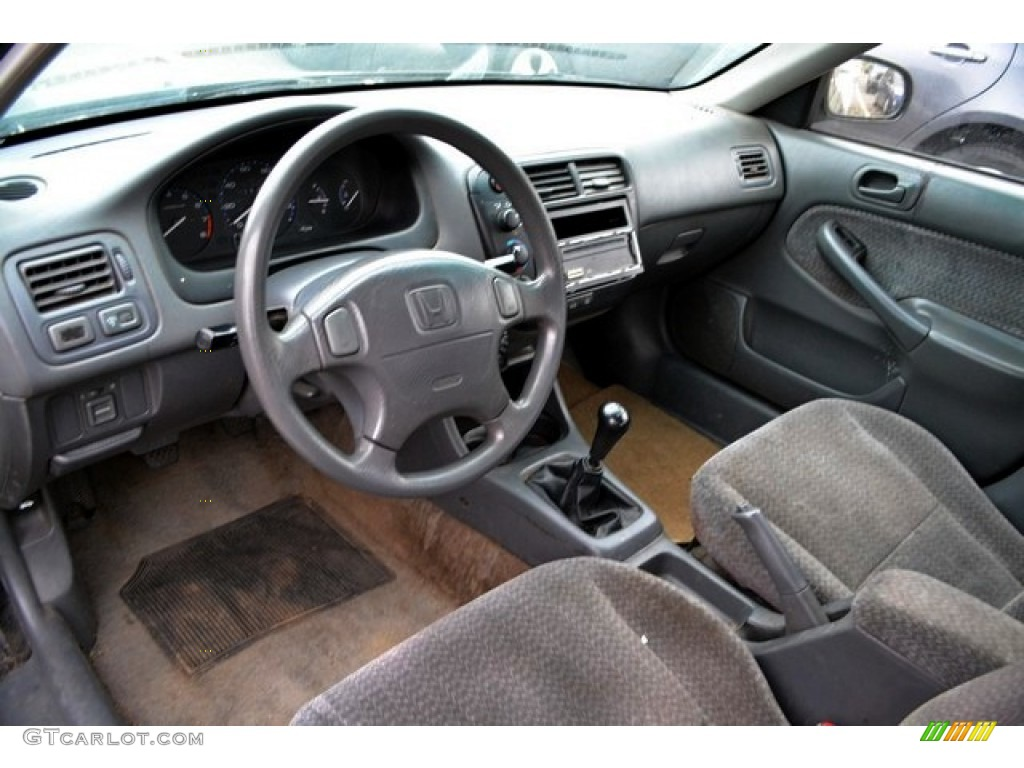 Gray Interior 2000 Honda Civic Lx Sedan Photo 87371917