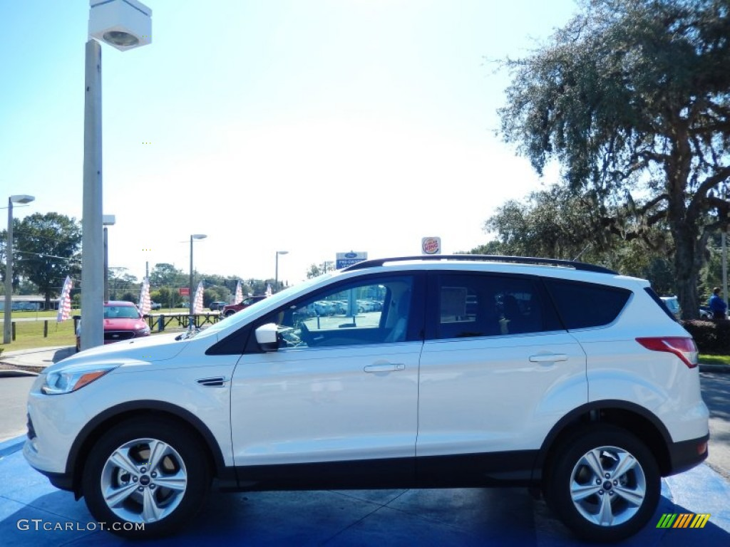2014 Escape SE 1.6L EcoBoost - White Platinum / Medium Light Stone photo #2