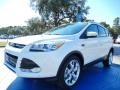 2014 White Platinum Ford Escape Titanium 2.0L EcoBoost  photo #1