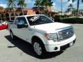 White Platinum Metallic Tri-Coat 2012 Ford F150 Platinum SuperCrew 4x4
