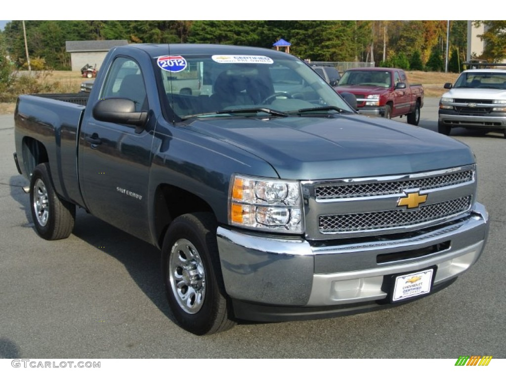 2012 Silverado 1500 Work Truck Regular Cab - Blue Granite Metallic / Dark Titanium photo #1