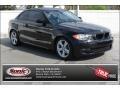 Jet Black 2008 BMW 1 Series 128i Coupe