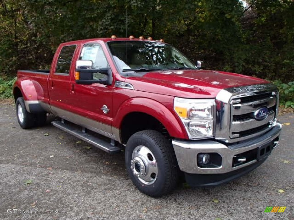 2014 Ruby Red Metallic Ford F350 Super Duty Lariat Crew Cab 4x4 Dually