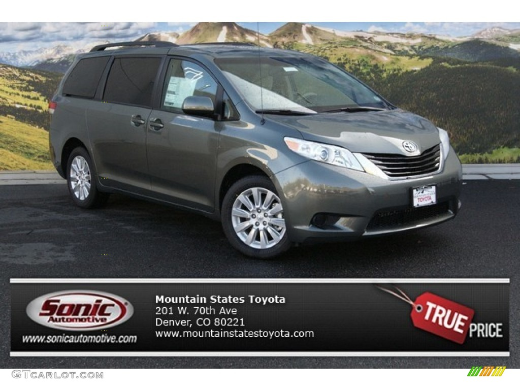 2014 cypress green pearl toyota sienna le awd 87418594 car color galleries. Black Bedroom Furniture Sets. Home Design Ideas