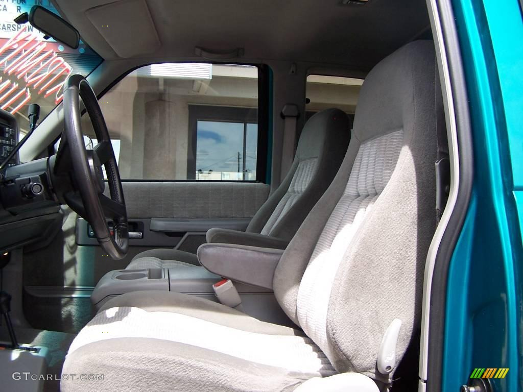 1994 bright teal metallic gmc sierra 1500 sle extended cab 4x4 8718324 photo 6. Black Bedroom Furniture Sets. Home Design Ideas