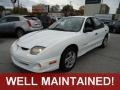 Bright White 2000 Pontiac Sunfire SE Sedan