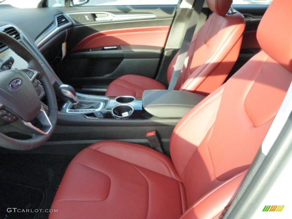 Brick Red Interior 2014 Ford Fusion Titanium AWD Photo 87504274