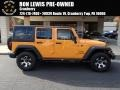 2013 Dozer Yellow Jeep Wrangler Unlimited Sport 4x4 #87518086
