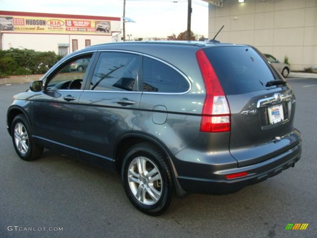 2011 CR-V EX-L 4WD - Polished Metal Metallic / Black photo #6