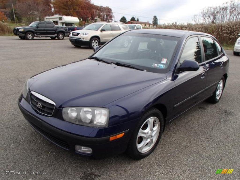 2002 carbon blue hyundai elantra gt hatchback 87523761 gtcarlot com car color galleries gtcarlot com