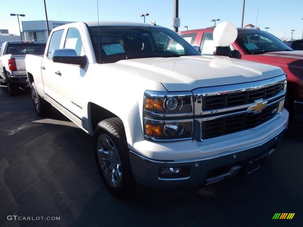 2014 summit white chevrolet silverado 1500 ltz z71 crew cab 4x4 87523885 car. Black Bedroom Furniture Sets. Home Design Ideas