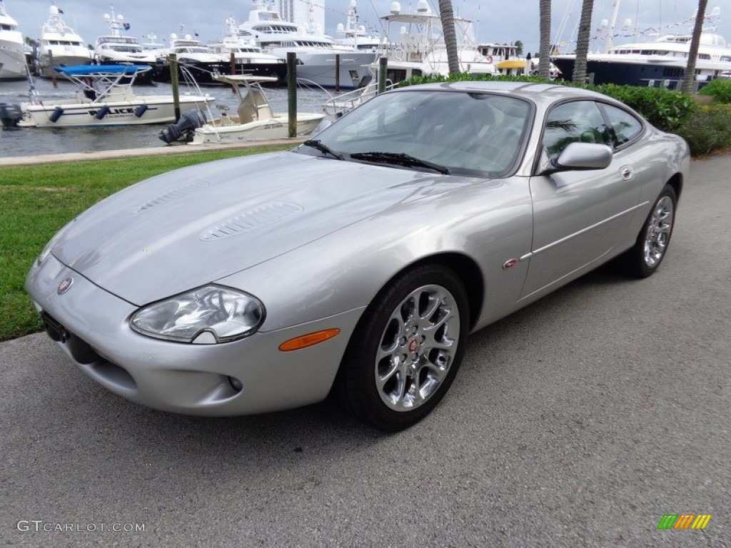 platinum metallic 2000 jaguar xk xkr coupe exterior photo 87570427. Black Bedroom Furniture Sets. Home Design Ideas