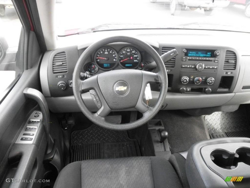 2012 Silverado 1500 LS Extended Cab 4x4 - Victory Red / Dark Titanium photo #15