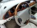 2000 Jaguar XK Oatmeal Interior Steering Wheel Photo