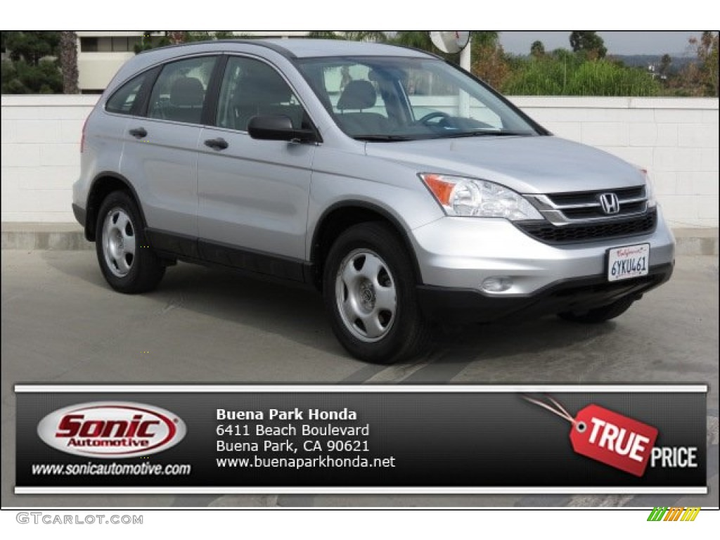 2011 CR-V LX 4WD - Alabaster Silver Metallic / Black photo #1